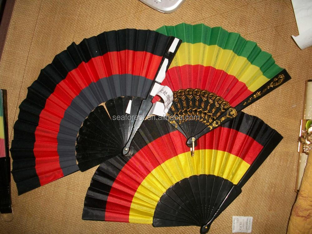 2018 World Cup Football Fans Germany National Flag Color Folding Handmade Fan