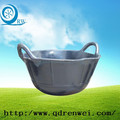 new construction rubber bucket with handle/rubber pails