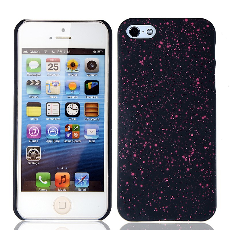 New hard pc case with double rubber gel coating for iphone 5 for iphone5s