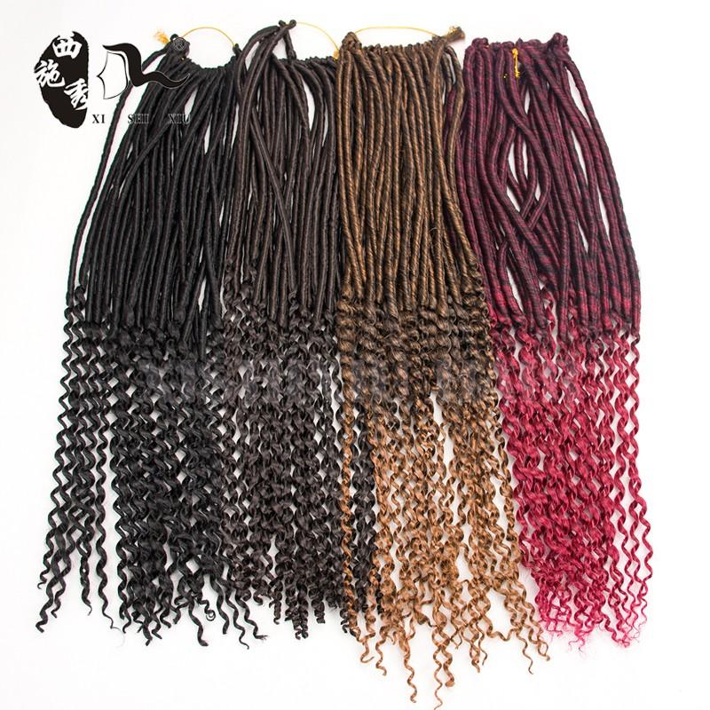 2017 New Style Hair Braids 20 Faux Locs Curly Dreadlock Crochet