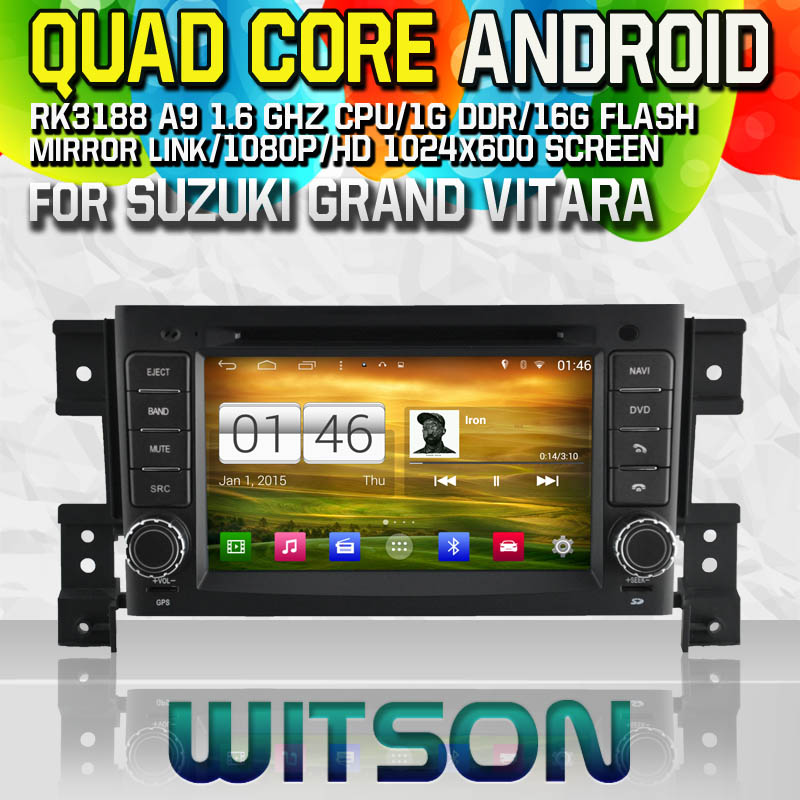 Witson S160 Android 4.4 Car DVD GPS For SUZUKI GRAND VITARA with Quad Core Rockchip 3188 1080P 16g ROM WiFi 3G Internet