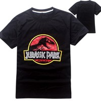 Kids Clothing European Style Jurassic World 8 Years Boy T-shirt