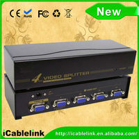 4-Port VGA Splitter Distribution Amp 2048x1536 pixels for Laptop Computer TV LCD Monitor