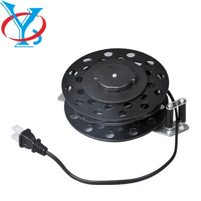 Plastic retractable cable reel used in electrical appliances