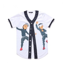 OEM custom mode digital printing baseball jersey