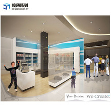 Retail MDF customized free design baby clothes store interior design