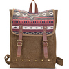 Acid washed custom printed canvas outdoor backpack