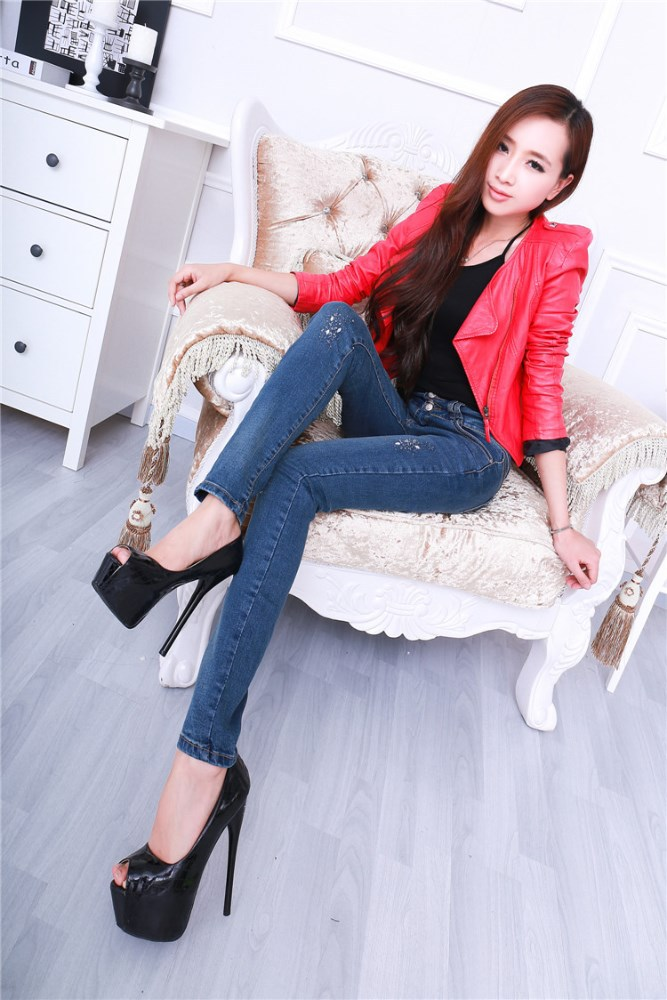 Women wearing tight leggings jeans cheap wholesale china 8854