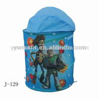 pop up folding cartoon laundry bins/folding laundry basket for washing