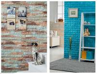 decorative Bedroom/Living Room Modern Wall Background Brick Foam 3D wall sticker