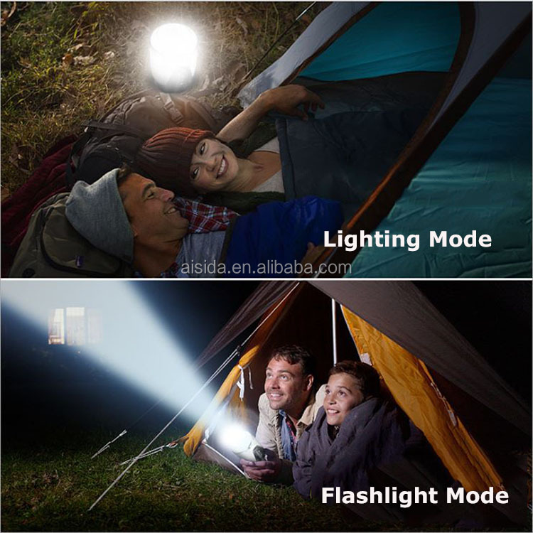2019 New Design Outdoor USB Rechargeable  LED  Torch Flashlight Portable Camping Tent Leds Lighting Lantern