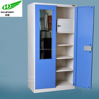 bedroom cloth storage steel locker/mirror door high quality metal locker