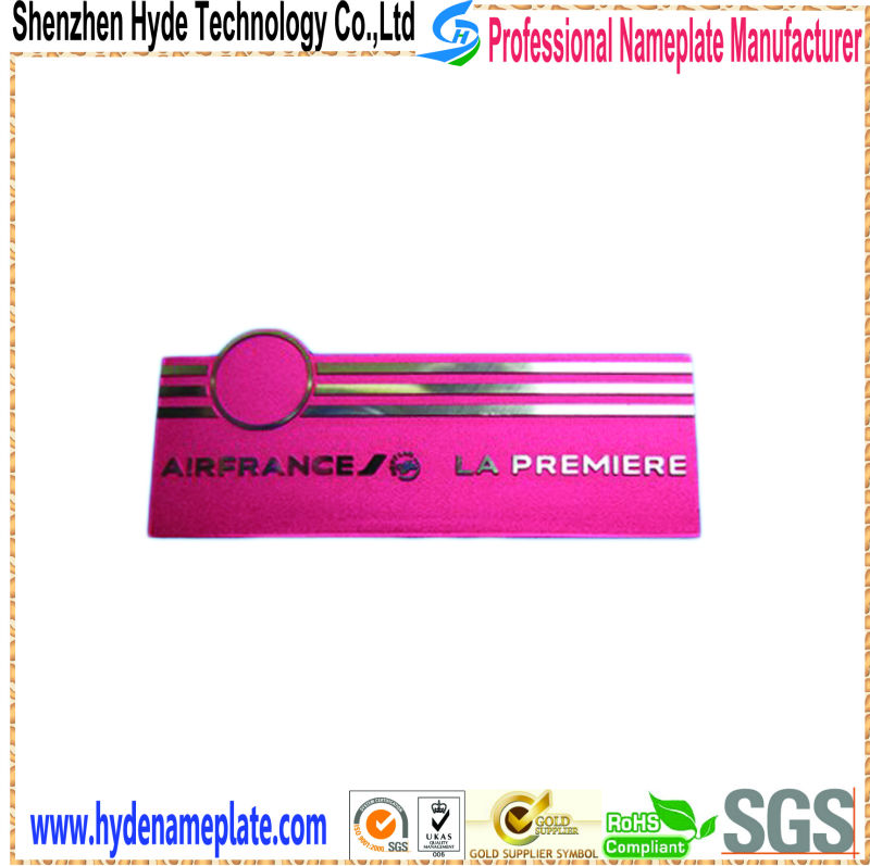 Wholesale Aluminum Metal company logo and staff name tag
