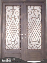 double square top entry doors FD-037