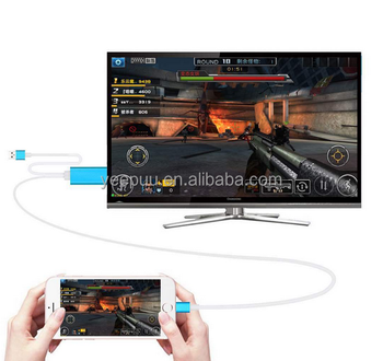 H-DMI HDTV AV mirroring Cable Aluminum Adapter Data sync for iphone iOS10 and Android