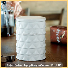Bumps Ceramic Candle Canister With Lid
