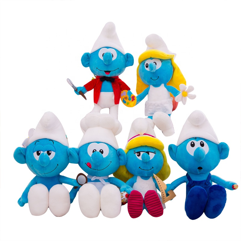 DCMD Smurf <strong>doll</strong> plush toy cartoon anime plush toy <strong>doll</strong>