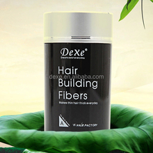 Dexe instant hair growth fiber/hair building fibers hair thickening fibres concealer