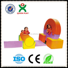 China Guangzhou indoor soft kids gym/toddler soft play area/PVC kid balance game QX-174E