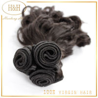 Wholesale grade 7a virgin brazilian hair spanish wave human hair extension weft