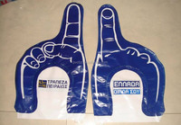 inflatable PE hand cheering hand with one two finger