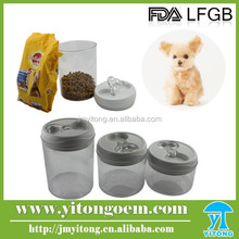 Mini 500ml PET food airtight canister for nut