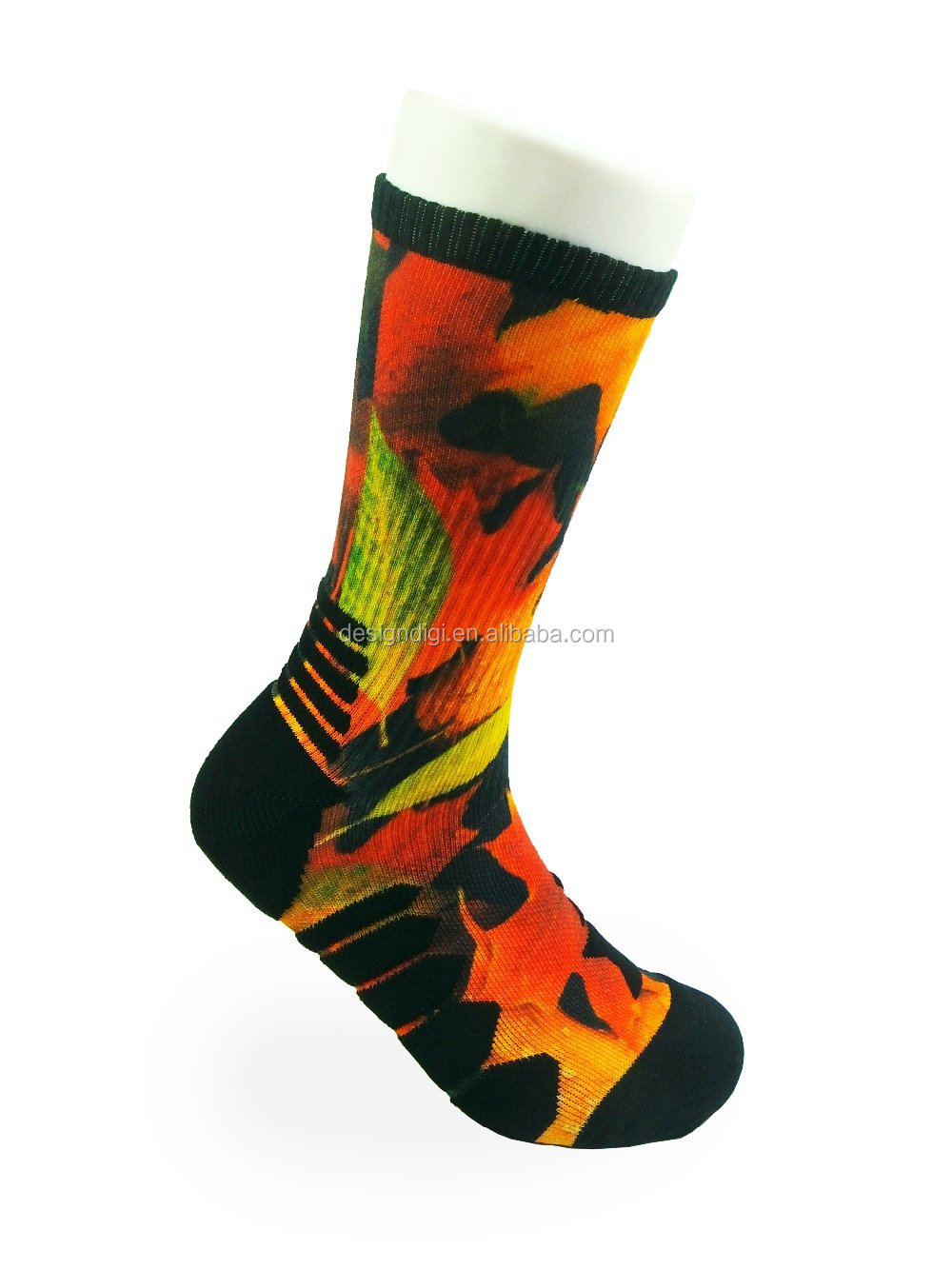 custom digital sock manufacturer customized logo in exact dimension