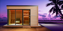 2015-2016 new Functional combination outdoor garden wooden sauna house LT-08