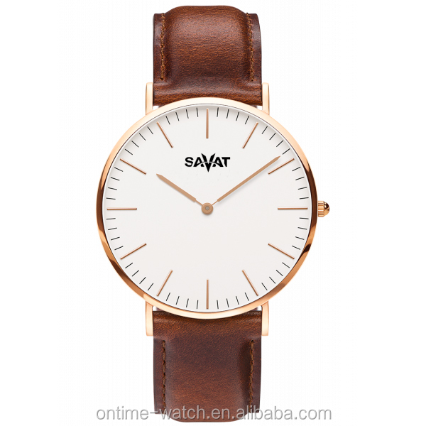 Top brand DW style fashion western watches men classic quartz leather watch