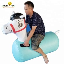 New finished mint green inflatable derby horse cheap on sale