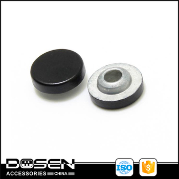 Black Paint Flat Surface metal button for belt