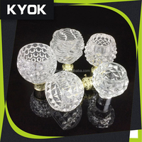 Beautiful curtain tube and accessories, resin / crystal / aluminum material curtain pipe finials