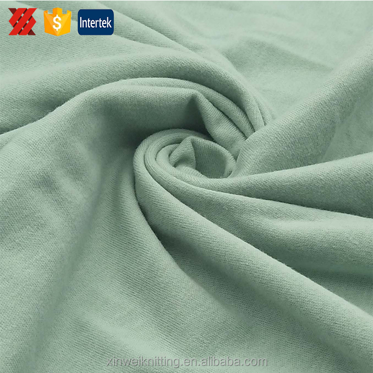 Competitive price 100 cotton interlock knit jersey fabric by the yard with high quality