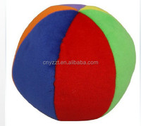 Factory OEM plush ball with bell inside/colorful plush ball toy/cat toy plush ball