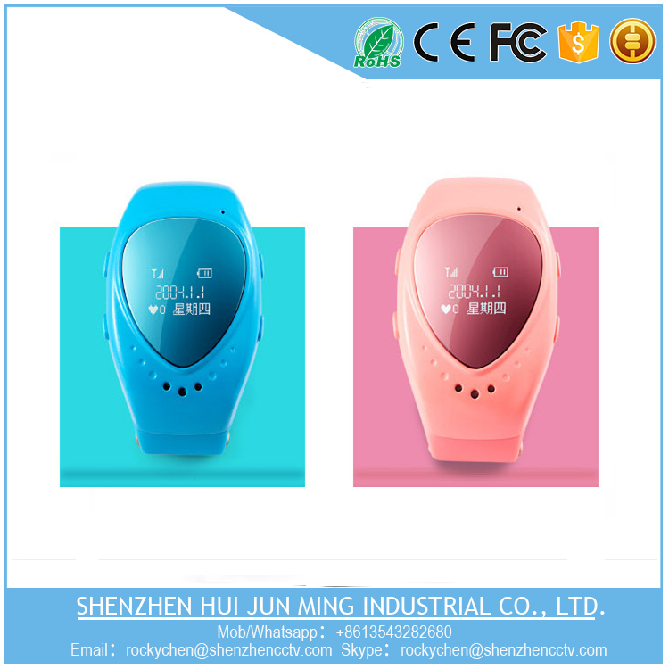 Two way audio anti-lose kids GPS watch with sim card slot smart watch
