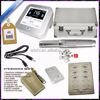 Newest CE certificated permanent makeup device set , high quality durable permanent eyebrow&lips&eyeliners makeup equipment