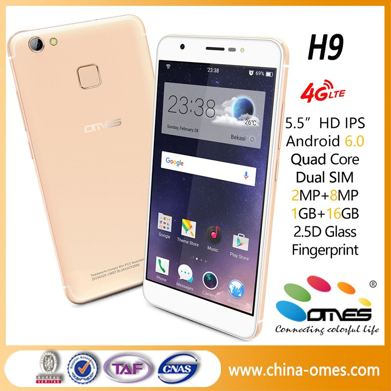 "5.5"" FHD Dual Camera 4G Lte Mobile Phone 2g RAM+16g ROM Cell Phone"