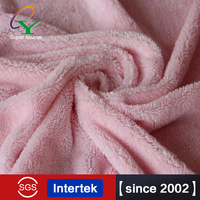 2015 100% polyester solid color shiny silk home textile super soft short pile velour fleece fabric