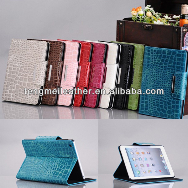 Luxury Crocodile Leather Magnetic Smart Stand Case For iPad Mini,Leather Case For Ipad Mini