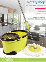2 Heads Rotating 360 Easy Floor Magic Spin Microfiber Mop Bucket,roto spin mop,hot sale spin mop