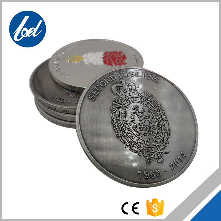 Hot sale custom engraving logo custom made silver coins