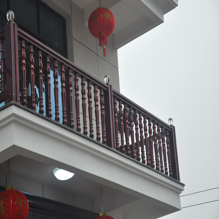 Aluminum graining staircase handrail/cheap guardrail