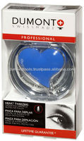 PROFESSIONAL COSMETIC BLUE EYEBROW HEART TWEEZERS