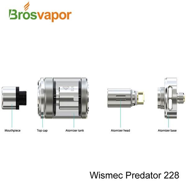 Premier lot WISMEC Prédateur 228 mod avec Elabo réservoir Prédateur 228 kit Elabo kit à venir