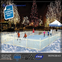 flexible rink boards/ ice skating lining sheet/ rink fence