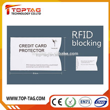 RFID blocking wallet card holder aluminum sleeve credit card secure protection