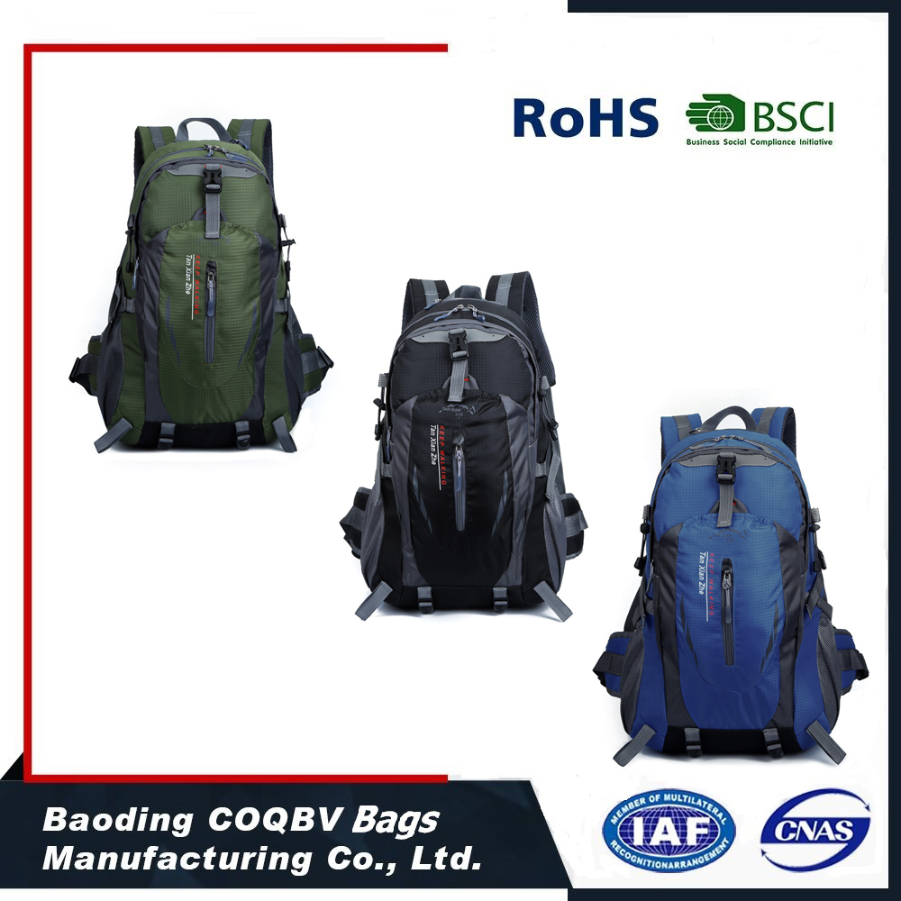 COQBV New fashion ripstop waterproof outdoor travel camping hiking pack backpack bag