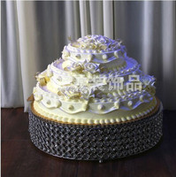 Crystal beaded cake stand , round wedding cake stand