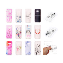Fashion Style Flower Pattern Soft TPU Case Cover for Samsung S8