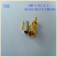 RF connector SMB female straight rg174 or rg316 cable